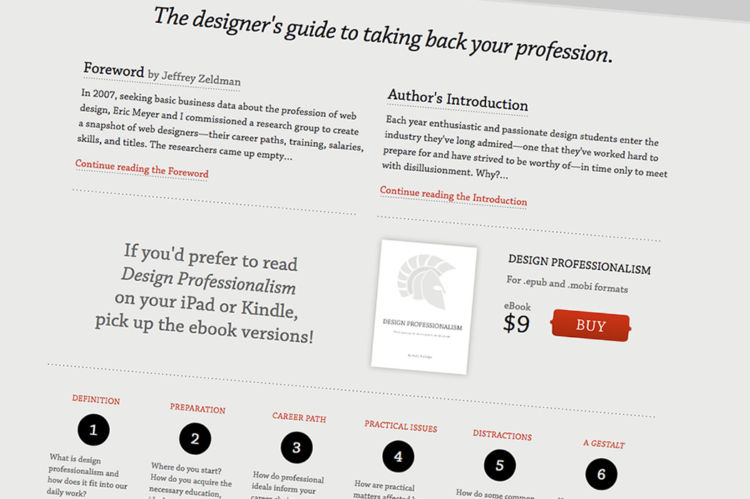 My book, Design Professionalism